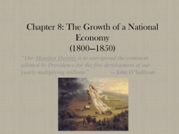 A National Economy: Territorial Expansion in the West