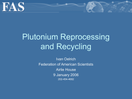 Reprocessing - Federation of American Scientists