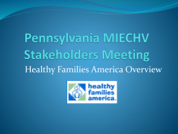 Pennsylvania MIECHV Stakeholders Meeting