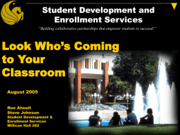 Student Development and Enrollment Services
