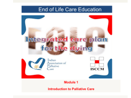 End of life care education