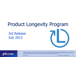 Product Longevity Program