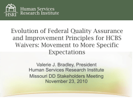 Evolution of Federal Quality Assurance and Improvement