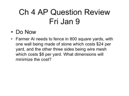 Ch 4 Review Mon Jan 21 - Princeton High School