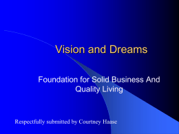 Entrepreneurship and Vision