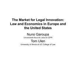 The Market for Legal Innovation: Law and Economics in