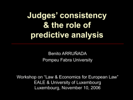 Judges Consistency & Analysis