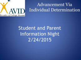 What is AVID and Who are AVID Kids?