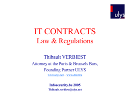 IT CONTRACTS Law & Regulations