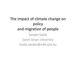 The impact of climate change on policy and migration of people