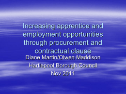 Increasing apprentice and employment opportunities through