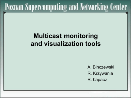 Multicast monitoring and visualization tools