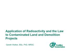 Application of Radioactivity and the Law to Contaminated