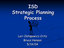 Information Services Department Strategic Planning Process