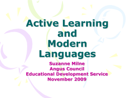 Active Learning and Modern Languages
