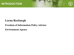 The Environment Agency and Freedom of Information
