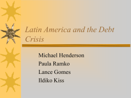 Latin America and the Debt Crisis