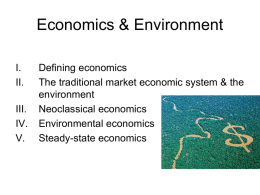 Economics & the Environment - University of San Francisco