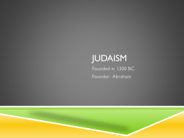 Judaism - lcusd.net