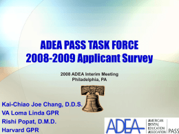 ADEA PASS TASK FORCE