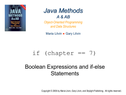 Java Methods A & AB - Skylight Publishing