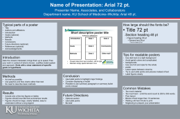 Name of Presentation: Arial 72 pt.