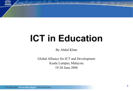 ICT in Education - Technology Owes Ecology an Apology