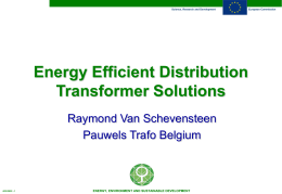 Energy Efficient Distribution Transformer Solutions