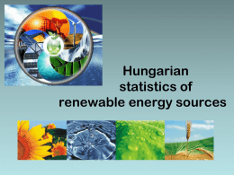Hungarian statistics of renewable energy sources
