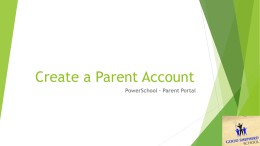 How to Create a Parent Account