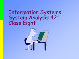 Information Systems System Analysis 421
