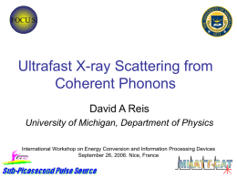 Of picoseconds and picometers: ultrafast x rays in