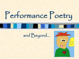 Performance Poetry