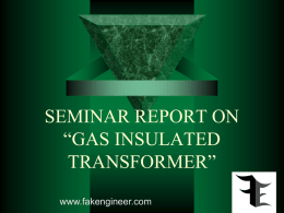 SEMINAR REPORT ON GAS INSULATED TRANSFORMER