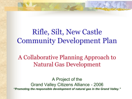 Rifle Silt New Castle (RSNC) Community Development Plan