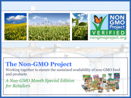 What are GMOs - Institute for Responsible Technology
