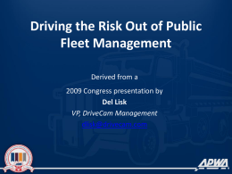 Fleet Presentation - American Public Works Association