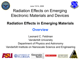 Radiation damage studies in nitrided & non