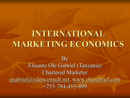 INTERNATIONAL MARKETING ECONOMICS