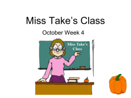 Miss Take's Challenge