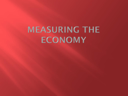 Measuring the Economy - Jefferson Forest High School