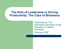The Role of Leadership in Driving Productivity