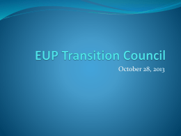 EUP Transition Council - Eastern Upper Peninsula ISD