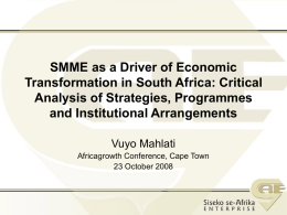 Siseko se-Afrika Enterprise Business Model