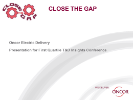 CLOSE THE GAP - First Quartile Consulting