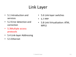 Link Layer - Southern Adventist University