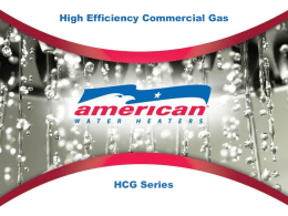 HCG Powerpoint - News from American Water Heaters