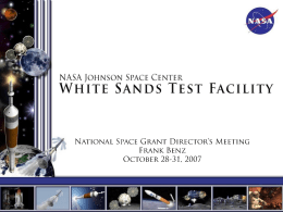 NASA Johnson Space Center White Sands Test Facility
