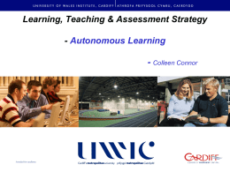Learning, Teaching & Assessment Strategy