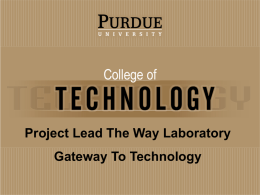 School of Technology - Indiana Project Lead The Way